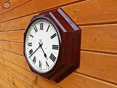 Vintage Gpo Octagonal Wall Clock, Bakelite. Restored & Updated, No Wires!