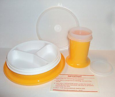 New Vtg TUPPERWARE Little Diner Set Divided Dish Sippy Cup Tumbler Baby Feeding