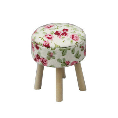 1:12 Dollhouse Miniature Wooden Stool Chair Furniture Kids Pretend Play Toy Band