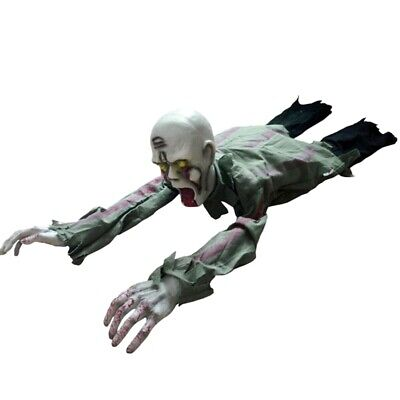 Halloween Crawling Zombie Prop Animated Horror Haunted House Party Floor De F3Q8