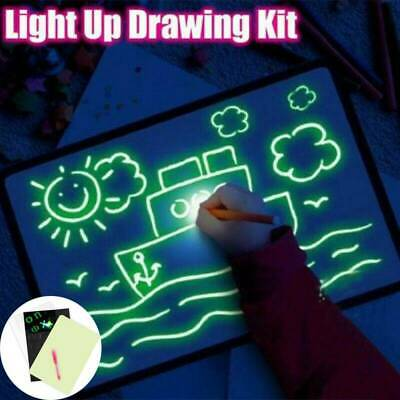 A4 Draw With Light Fun And Developing Toy Drawing Board Magic Draw Educational