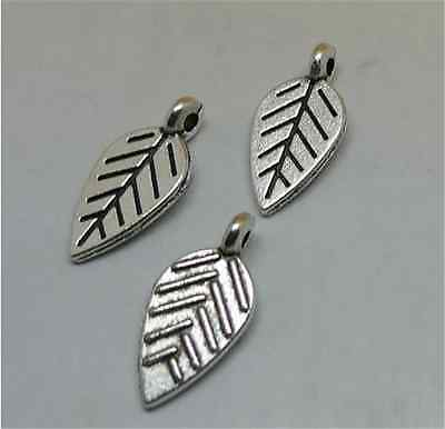 P1382 20pc Retro Tibetan Silver leaves Charms Beads Pendant Jewellery Making