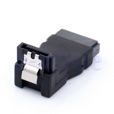1pc Adapter SATA 7pin Male to S-ATA 7 pin Female 90° angled With Metal Clip HI