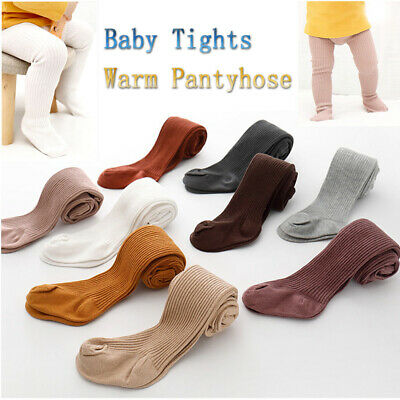 Autumn Winter Baby Toddler Kids Girl Ribbed Stockings Cotton Warm Tights Tights
