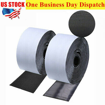 2 Rolls 16.4Ft Nylon Strap Hook Loop Self Adhesive Strong Sticky Fastener Tape