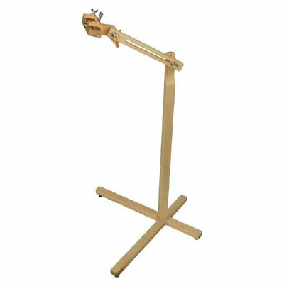 Elbesee 2HPOSI | Polished Hardwood Posilock Wooden Floor Stand