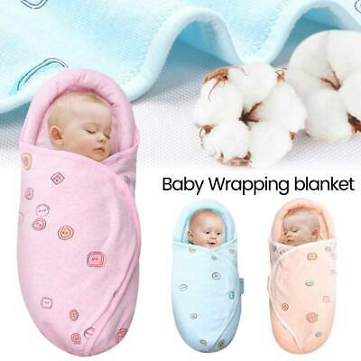 Newborn Infant Swaddle Wrap Blanket Baby Sleeping Bag For 0-12 Months Cotton