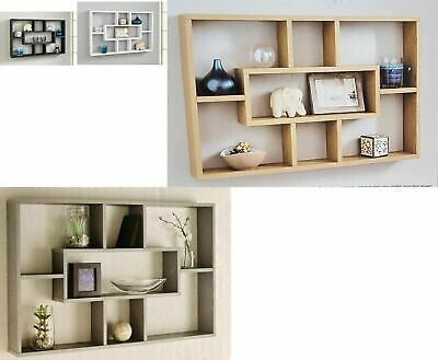 Multi Floating Stylish Shelf Space Saving Wall Mounted Display Bookshelf Storage