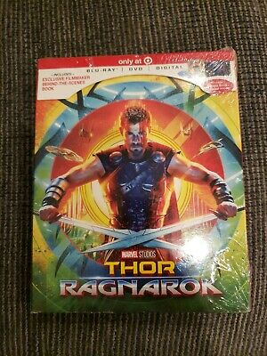 Thor Ragnarok (Blu-ray/DVD/Digital HD) Target Exclusive Brand New Sealed Marvel