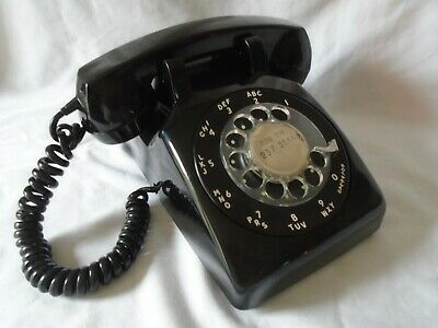 vintage antique black Northern Electric Canada rotary dial desk telephone