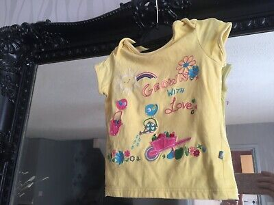 Baby Girls Mothercare Yellow Top Age 12-18 Months