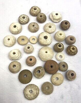 Ancient Roman. Lot Of Beads Jade/Agate/Jasper Roman 200 a Of Beads