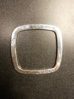 Tiffany & Co. Square Bracelet 42 G Sterling Silver .925. (RARE) Italy