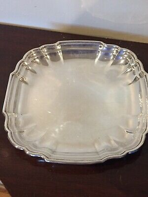 """Vtg CHIPPENDALE Sterling Silver Serving Tray Plate Platter Bowl WH98 9.5"""" Large"""