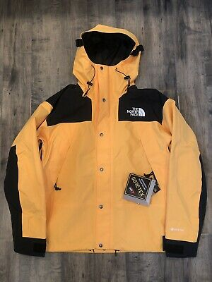 New The North Face Mountain Jacket Gore Tex Mens Large TNF Yellow