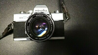 Minolta SRT101 SLR 35mm camera c1966 w/MC Rokkor-PF 58mm f1.4 Lens Free Shipping