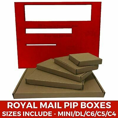 C4 C5 C6 DL Size Brown PIP Royal Mail Large Letter Fit Cardboard Postal Boxes