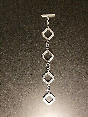 "vintage 2001 Tiffany and Co. 8"" .925 Sterling Silver square link bracelet"
