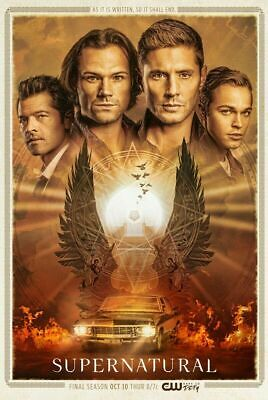 Supernatural Season 15 Poster 27x40 24x36 Sam & Dean Winchester Decor G452