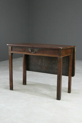 Antique Mahogany Gate Leg Side Occasional Hall Table