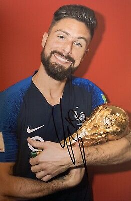 "Olivier Giroud Hand Signed 12x8"" Chelsea France Photograph Autograph Memorabilia"