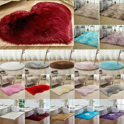 Washable Fluffy Rug Anti-Skid Shaggy Rugs Carpet Bedroom Living Room Large Mats