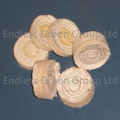 Stitched Cotton Buffing Wheel For Drill polishing - Choice Of Widths - 50mm Dia