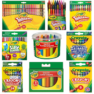 Crayola Crayons - Ultra Clean Large, Silly Scents, Easy-Grip Jumbo, Twistables