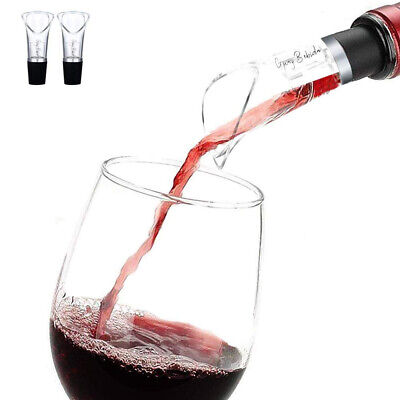 Guay Bebida Mini Portable Red Wine Double Deck Aearator Pourer Spout - Pack of 2