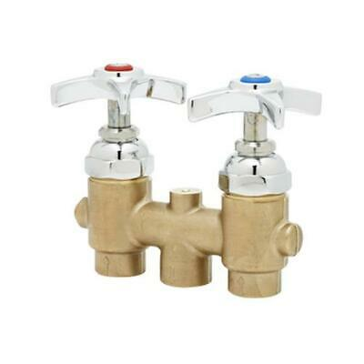 T&S Brass B-2297 Concealed Mixing Faucet w/ 4-Arm Handles