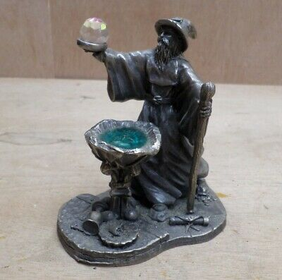Font of Knowledge Crystal Pewter Figure Wizard Tudor Mint Myth Magic 3856