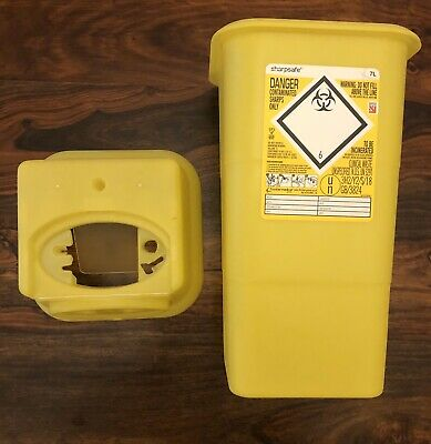 Sharpsafe 7L Medical / Clinical Waste Bin, For Needles Tattoo Insulin Medical.