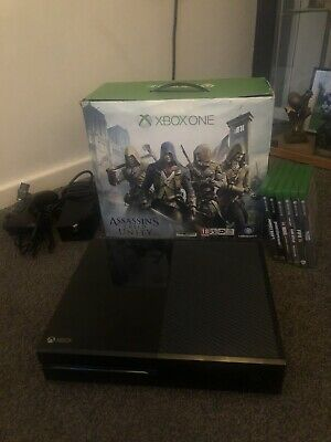 Microsoft Xbox One 500GB Console - Black  9 Games,2 Controllers & Charging Cable
