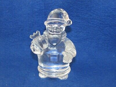 Baccarat Glass Crystal Santa Claus Signed And Paper Label