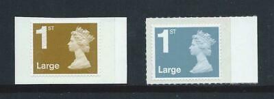 Gb Two Machin 1St Class Large Self Adhesive Mint Stamps
