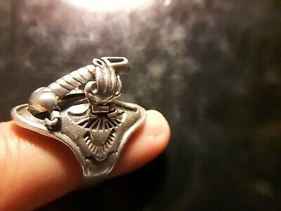 Antique Silver Erotic Ring - very interesting