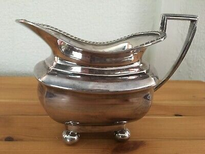 Beautiful Quality Walker & Hall Sheffield Plated Art Deco Milk Cream Sauce Jug