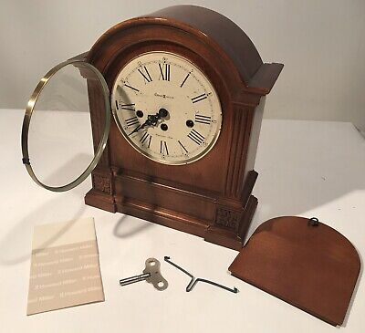 Beautiful HOWARD MILLER Key-Wound  WESTMINSTER Chime Mantel CLOCK W/Key & Manual