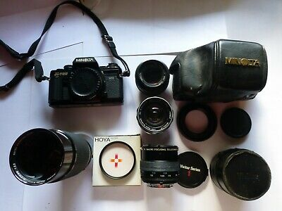 Minolta SLR X700 with lenses and case.