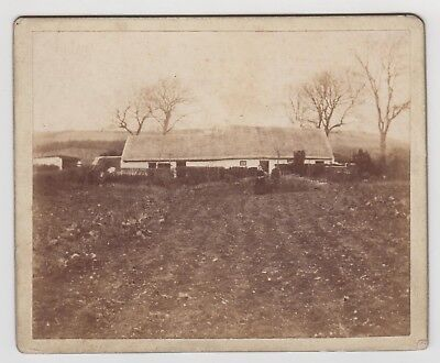 CABINET CARD TYPE PHOTOGRAPH - unknown location, wide building in rural setting