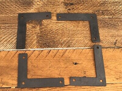 Four Antique Iron Brackets Black