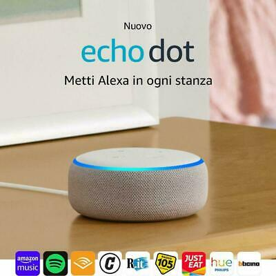 AMAZON Echo Dot 3ª gen. BIANCO - Altoparlante intelligente con Alexa. NUOVO