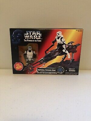 Star Wars Power of the Force Imperial Speeder Bike Biker Scout