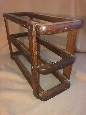 Antique Singer Treadle Sewing Machine Drawer Frame Left Side Oak Repurpose