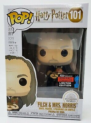 Funko Pop Harry Potter Argus Filch w/ Mrs Norris NYCC 2019 Shared Fall *IN HAND*