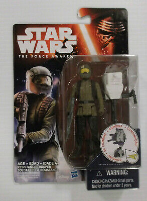 Star Wars The Force Awakens 2015  3.75 Inch Resistance Fighter Space Mission Fig