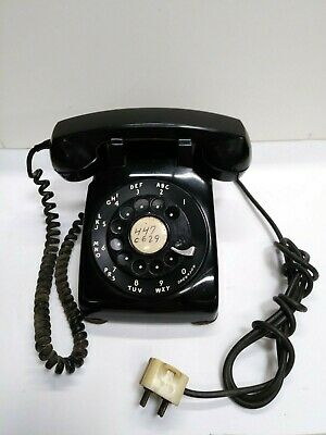 Vintage Western Electric CD 500 Black Metal Dial Rotary Phone 1956 Works!