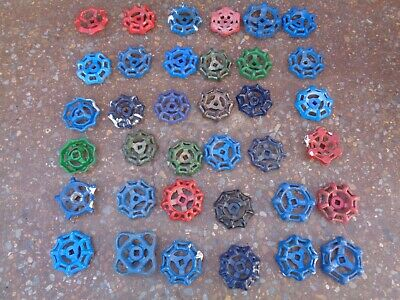 Lot of 36 VINTAGE WATER FAUCET KNOB VALVES HANDLE STEAMPUNK INDUSTRIAL ART CRAFT