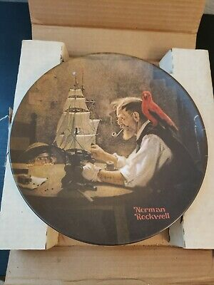 """1980 Vintage Norman Rockwell Collector Plate Limited Edition """"The Ship Builder"""""""