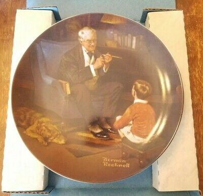 """Collector Plate Norman Rockwell Plate """"The Tycoon"""" , Limited, Bradex 84-R70-3.6"""